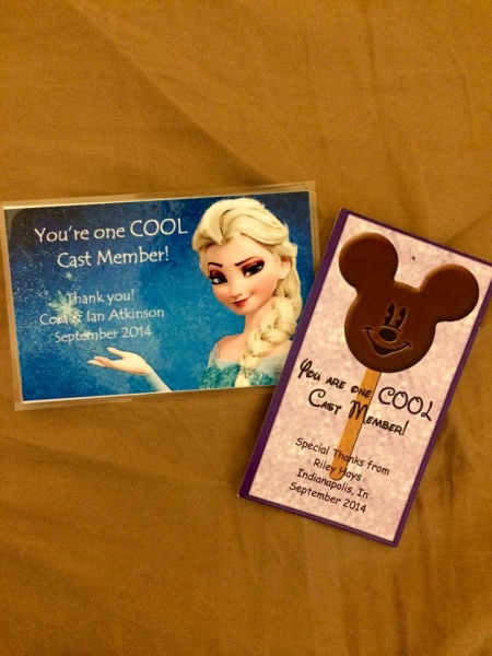 A simple gesture like a thank you note can really make a cast members day!