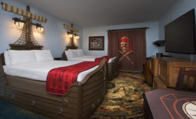 Kid Review ~ Pirate Rooms at Disney's Caribbean Beach Resort