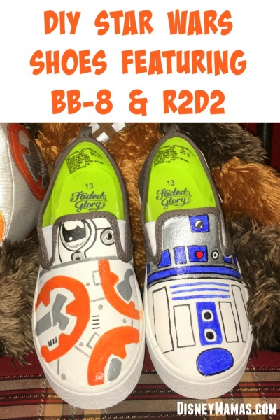DIY BB8 Shoes | Star Wars Shoes Featuring BB-8 and R2-D2