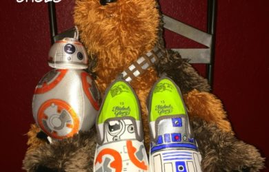 DIY Star Wars Shoes featuring BB-8 and R2-D2