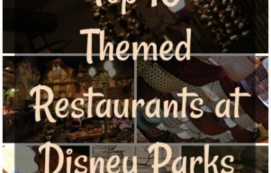 Top 10 Themed Dining Experiences at Disney Parks